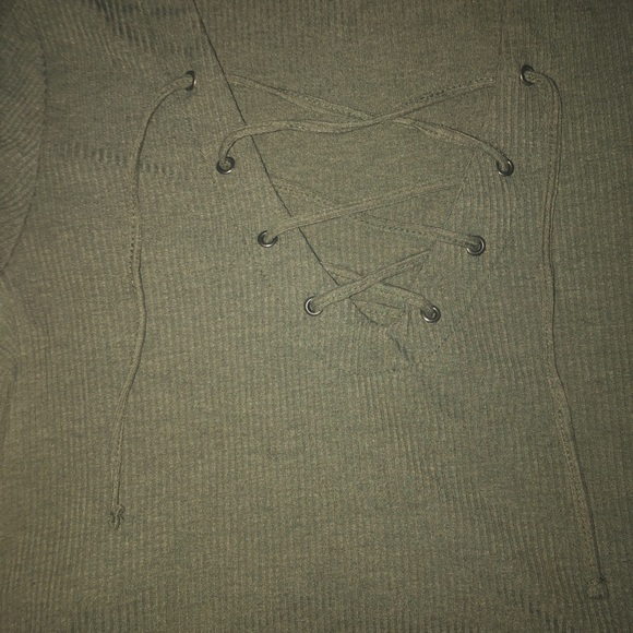Rue21 Tops - Green Lace Top